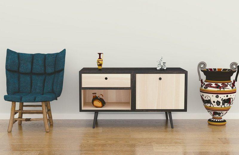 meubles au bois d'hévéa